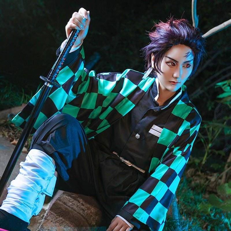 Xcoser Demon Slayer: Kimetsu no Yaiba Tanjiro Kamado Cosplay Costume - Costumes 2
