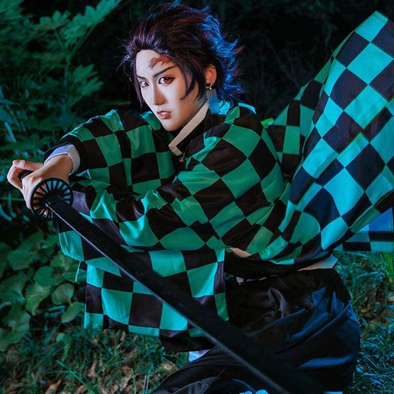 Xcoser Demon Slayer: Kimetsu no Yaiba Tanjiro Kamado Cosplay Costume - Costumes 3