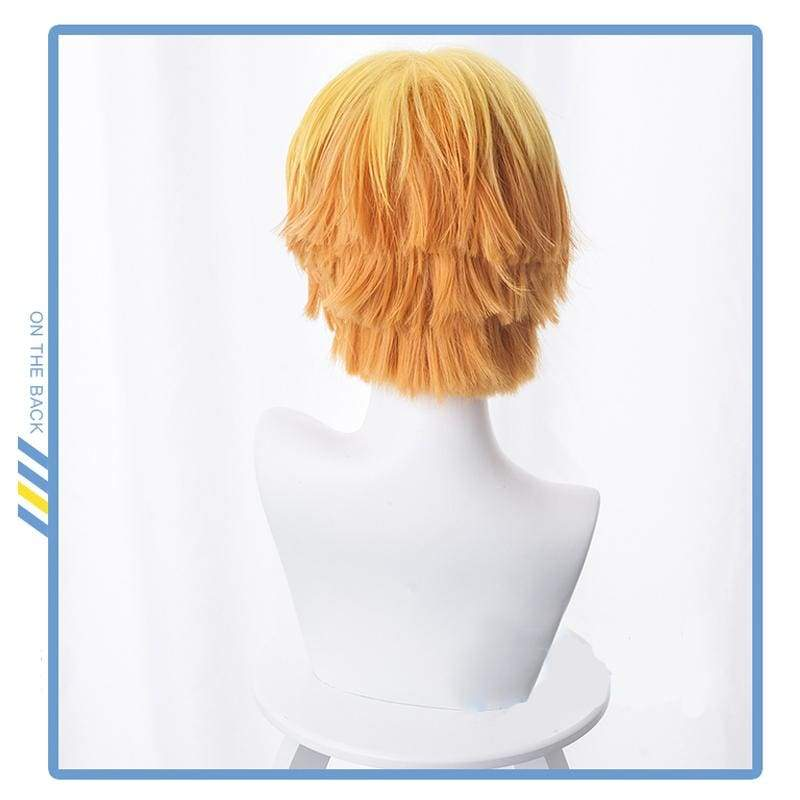 Xcoser Demon Slayer: Kimetsu no Yaiba Zenitsu Agatsuma Cosplay Wig - Costumes 2