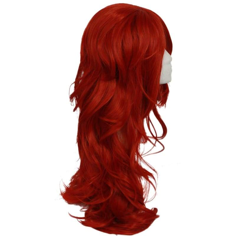 xcoser-de,XCOSER Dragon Ball Fighter Z Game Cosplay Android #21 Long Curly Oranged-Red Wave Wig Accessory,Wigs