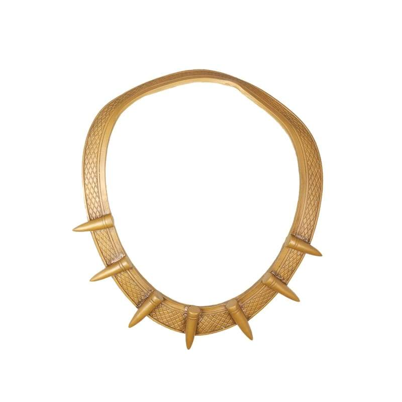 xcoser-de,XCOSER Erik Killmonger Golden Latex Necklace Cosplay Accessory,Jewelry