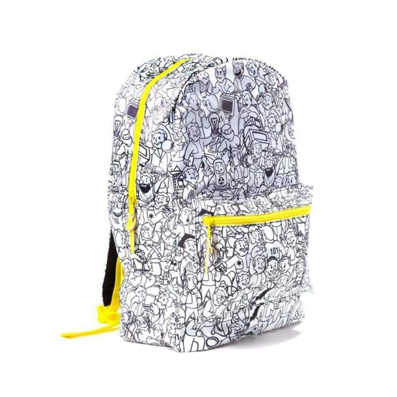 xcoser-de,XCOSER Fallout 4 Vault Boy Related Backpack Vault Boy Graffiti Backpack,Others