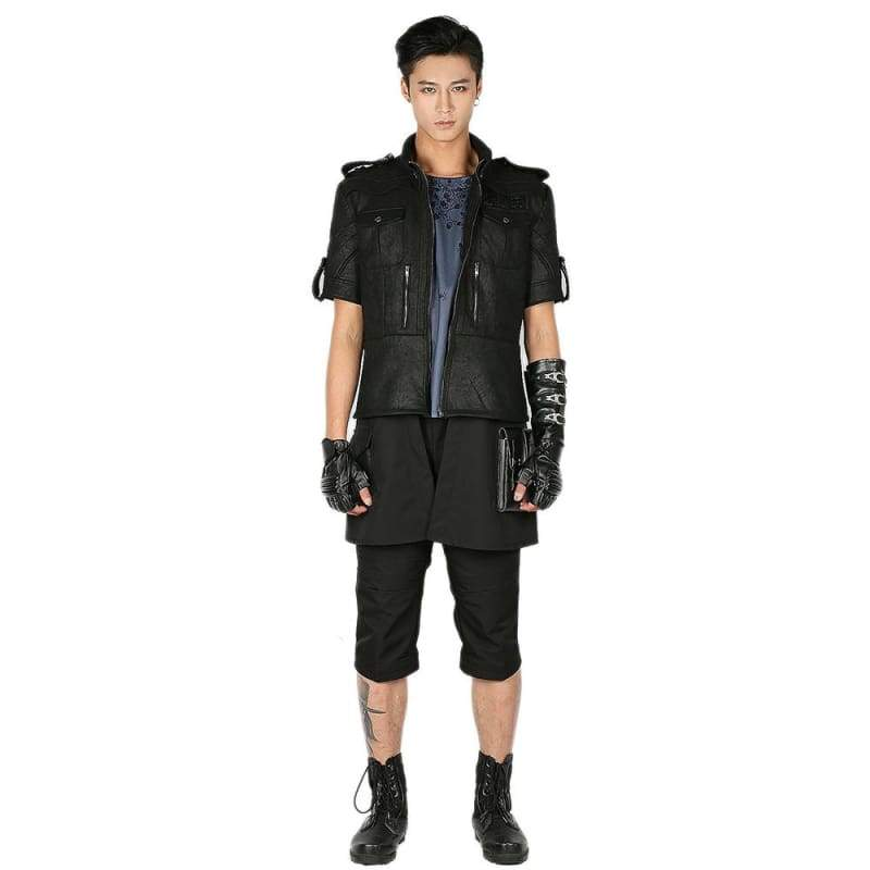 xcoser-de,Xcoser Final Fantasy XV Prince Noctis Cosplay Costume Jet Black Full Set Outfits for Cosplay Halloween,Costumes