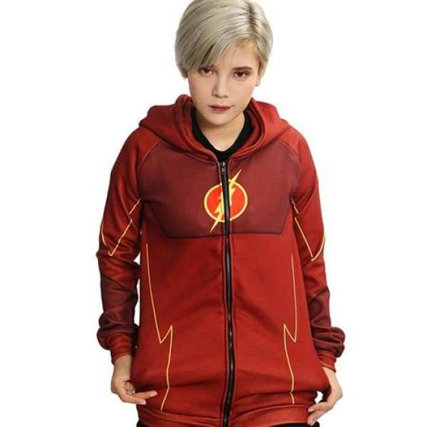 xcoser-de,XCOSER Flash Hoodie Sweatshirt Jacket Costume For Halloween Cosplay Sales 2018,Jackets