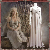 xcoser-de - Xcoser Game of Thrones  Daenerys Targaryen Cosplay Gray Dress - Costumes