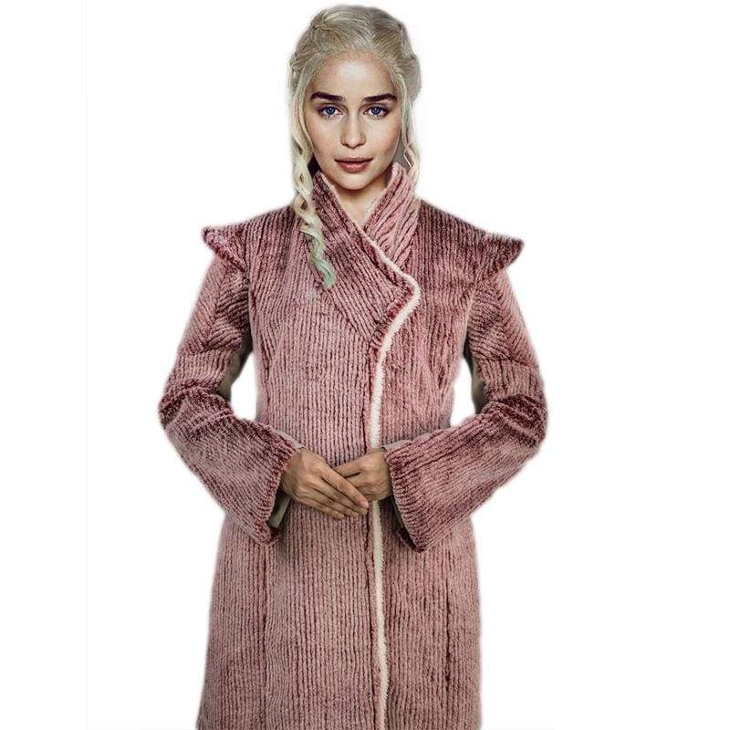 xcoser-de,Xcoser Game of Thrones Season 8 Daenerys Targaryen Cosplay Coat,Costumes
