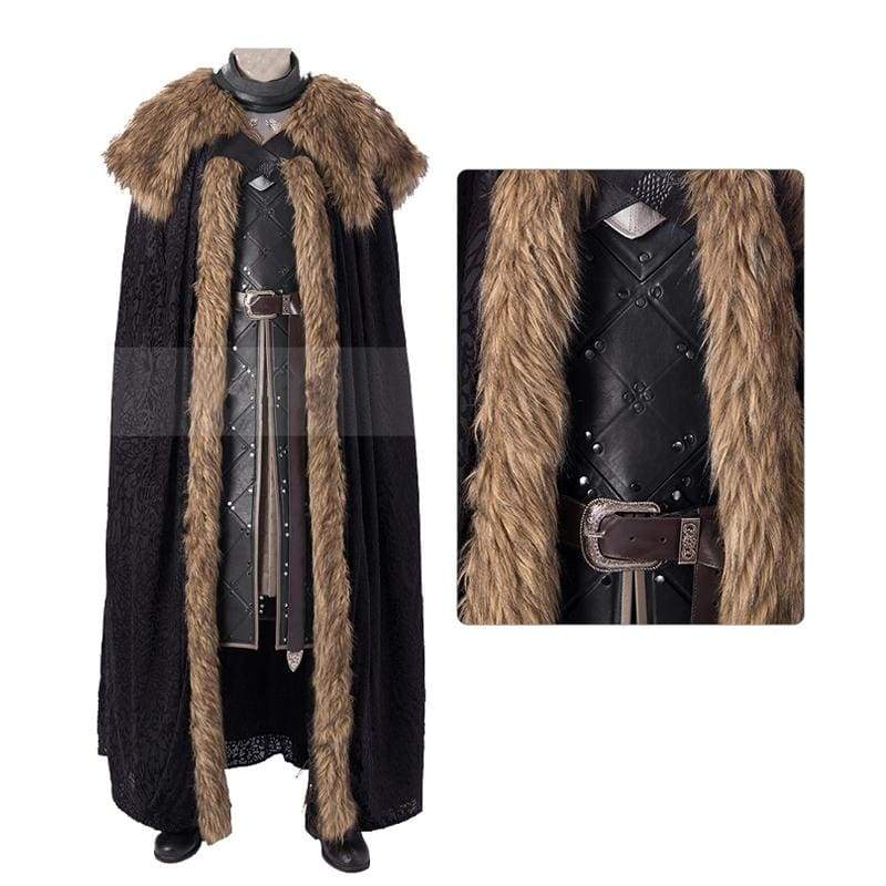 xcoser-de,Xcoser Game of Thrones Season 8 Jon Snow Cosplay Costume,Costumes