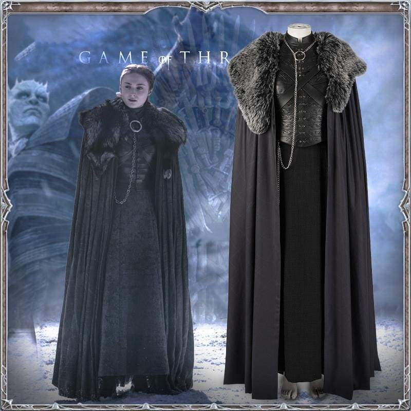 xcoser-de,Xcoser Game of Thrones Season 8 Sansa Stark Cosplay Costume,Costumes