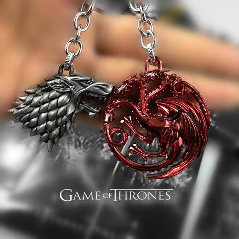 xcoser-de,Xcoser Game of  Thrones  Stark&Targaryen&Lannister  Family crests Keychain,Others