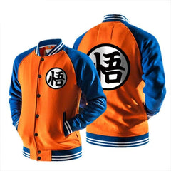 xcoser-de - Xcoser Goku Hoodie Dragon Ball Cosplay Mens Raglan Sleeves Baseball Jacket Sweatshirt Sales 2018 - Hoodies - vendor-unknown