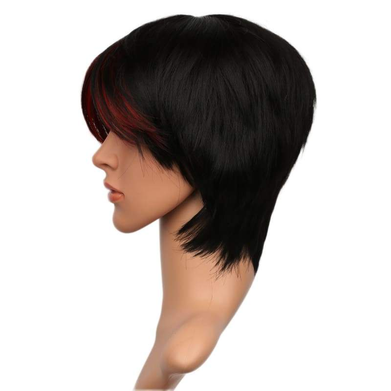 xcoser-de,Xcoser Gotham 3 Fish Mooney Black Short Wig Gotham Cosplay Props,Wigs
