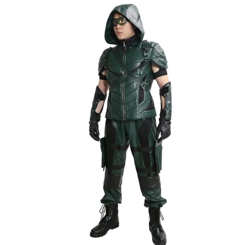 xcoser-de,Xcoser Green Arrow Season 4&5 Cosplay Costume Oliver Queen Outfit,Costumes
