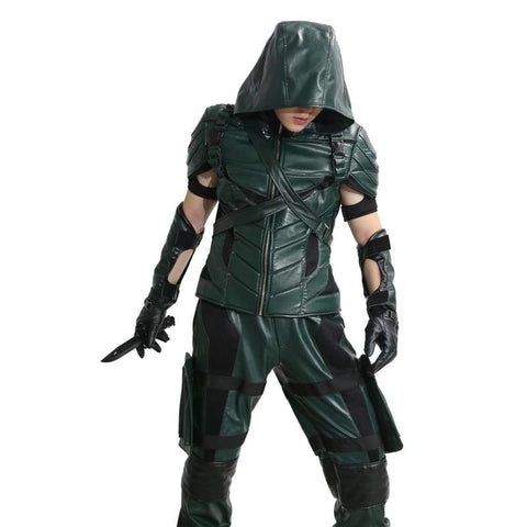 xcoser-de - Xcoser Green Arrow Season 4&5 Cosplay Costume Oliver Queen Outfit - Costumes - vendor-unknown