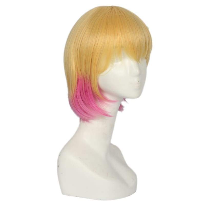 xcoser-de,Xcoser Gwenpool Orange Wig With Pink Pony Tail Wig Cosplay Accessory,Wigs
