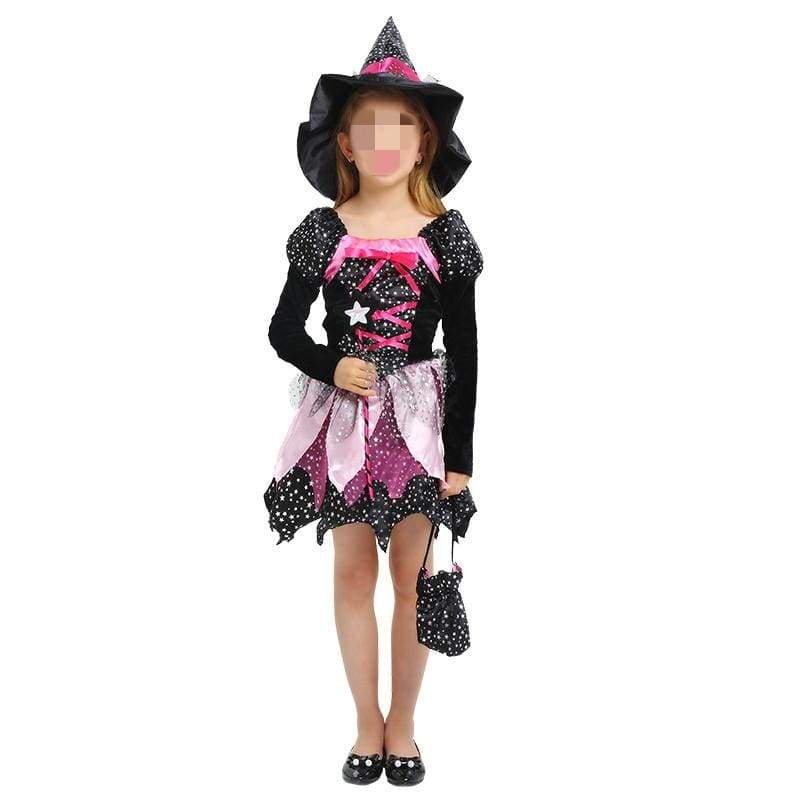 xcoser-de,Xcoser Halloween Princess Skirt Magic Witch Children Cosplay Costume,Costumes