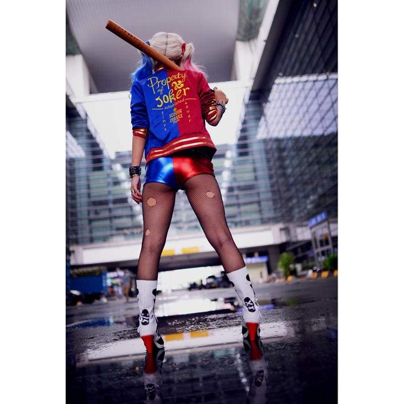 xcoser-de,Xcoser Harley Quinn Costume Suicide Squad Cosplay Harley Quinn PU Outfit Halloween,Costumes