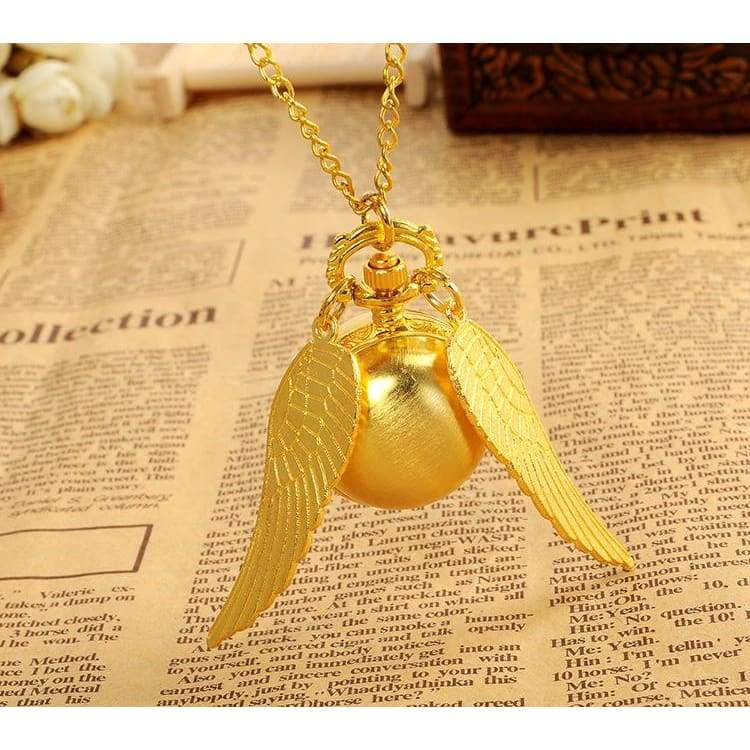 xcoser-de,Xcoser Harry Potter Golden Snitch Vintage Watch Necklace,Jewelry