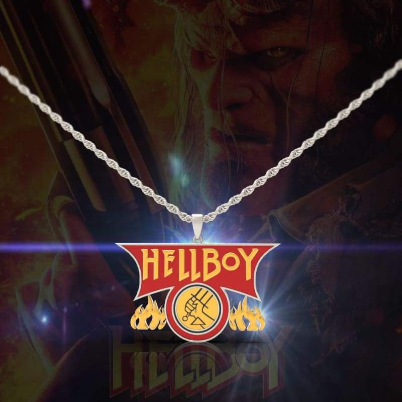 xcoser-de,Xcoser Hellboy Fire Logo Necklace,Jewelry