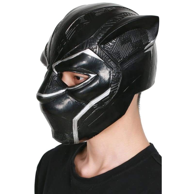 xcoser-de,XCOSER Hot New Arrival Black Panther Cosplay TChalla Latex Brand New Mask Black Panther Cosplay Costume Mask,Helmet