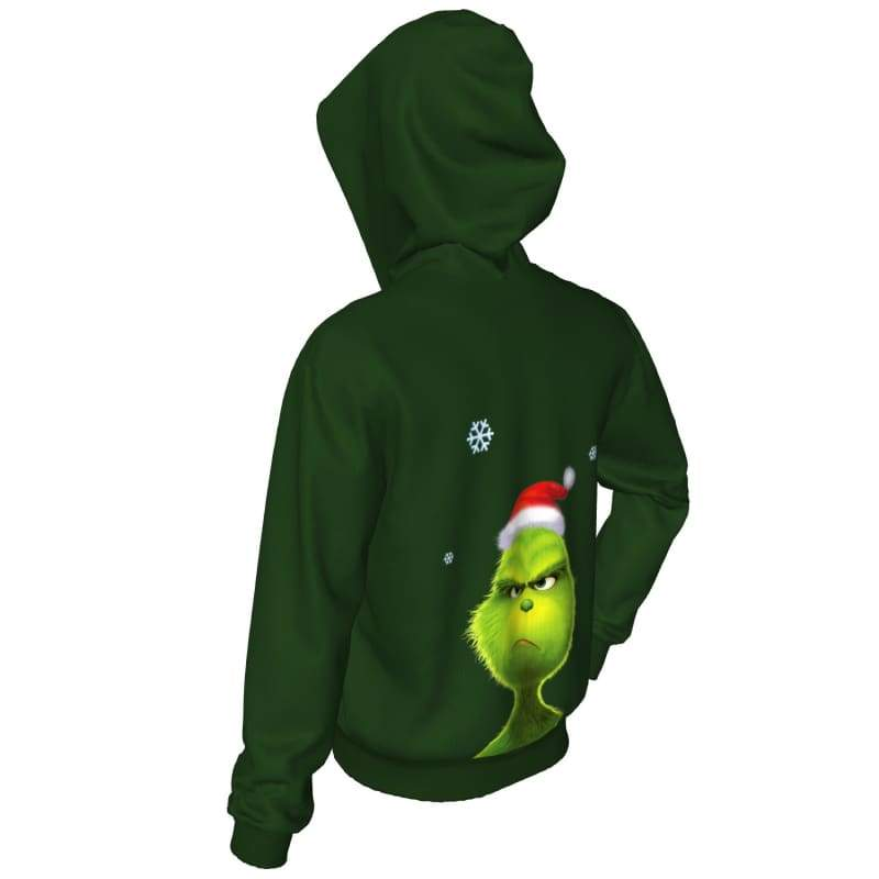 xcoser-de,XCOSER How the Grinch Stole Christmas Grinch Hoodie Adult Hooded Digital Printed Compac,Hoodies