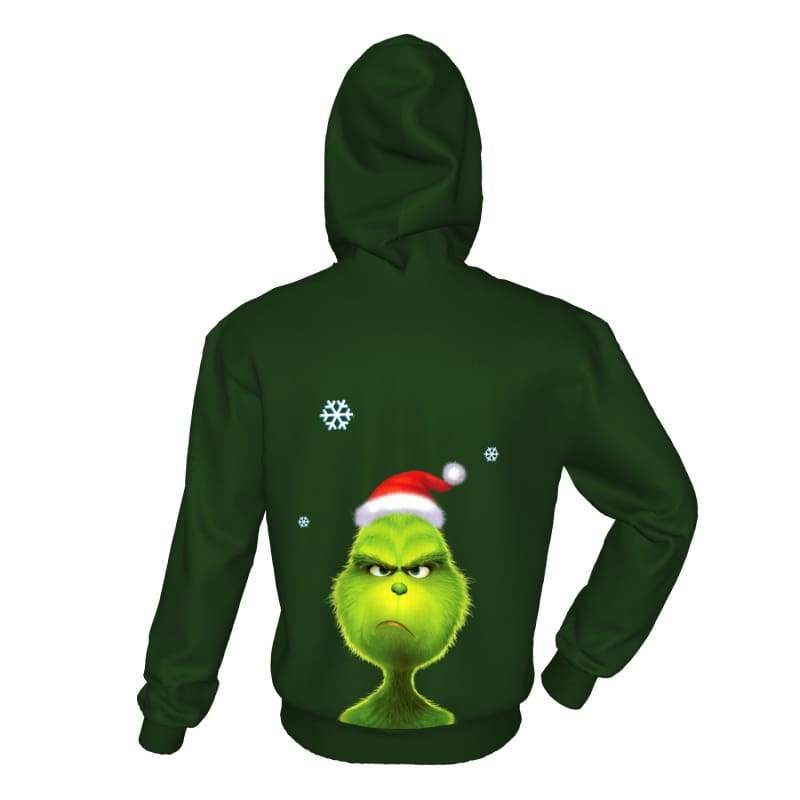 xcoser-de,XCOSER How the Grinch Stole Christmas Grinch Hoodie Adult Hooded Digital Printed Compact,Hoodies