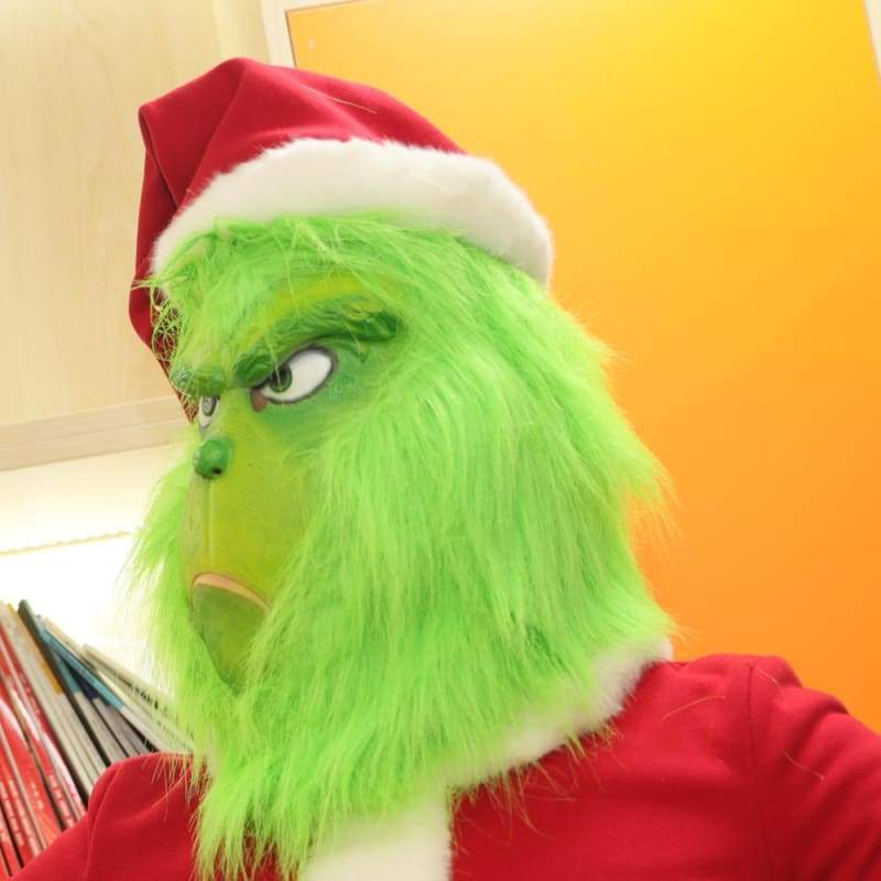 xcoser-de,Xcoser How the Grinch Stole Christmas Grinch Mask Deluxe Latex Green Full Head Mask New,Mask