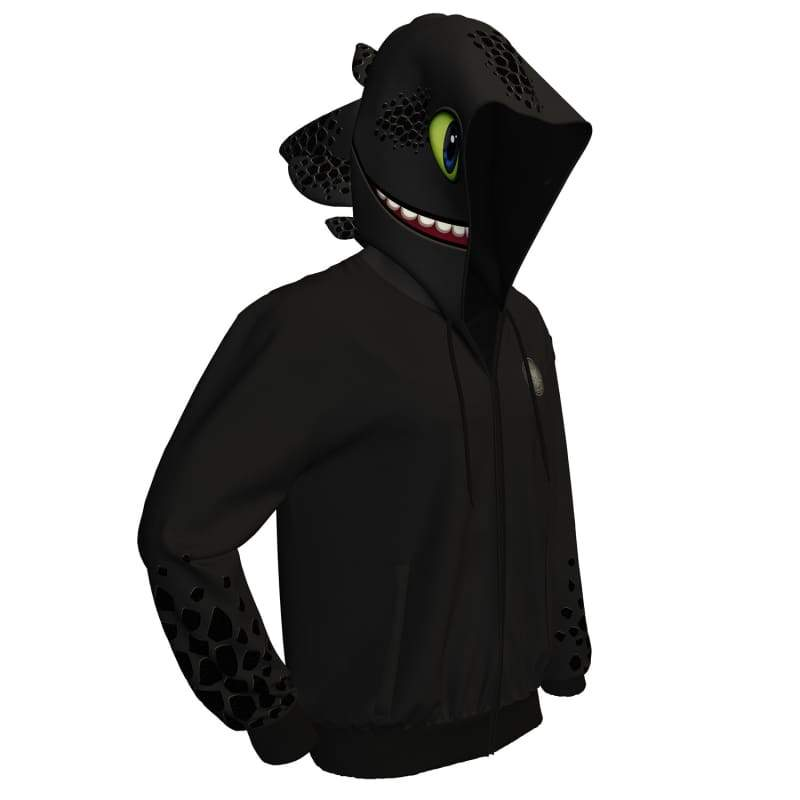 XCOSER How to Train Your Dragon Toothless Creative Hoodie Black Polyester - xcoser-de