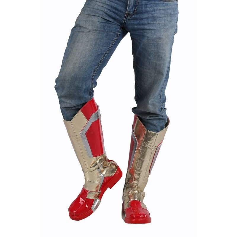 xcoser-de,Xcoser Iron Man Boots Pu Leather Mid-calf Boots Iron Man Cosplay Shoes in Custom-Made Sale,Boots