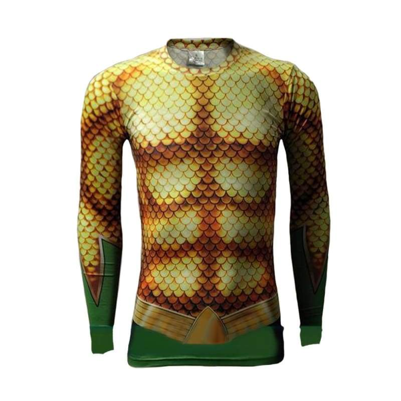 xcoser-de,Xcoser Justice League Aquaman T-shirt Cosplay Halloween Costume Sales 2018,T-shirts