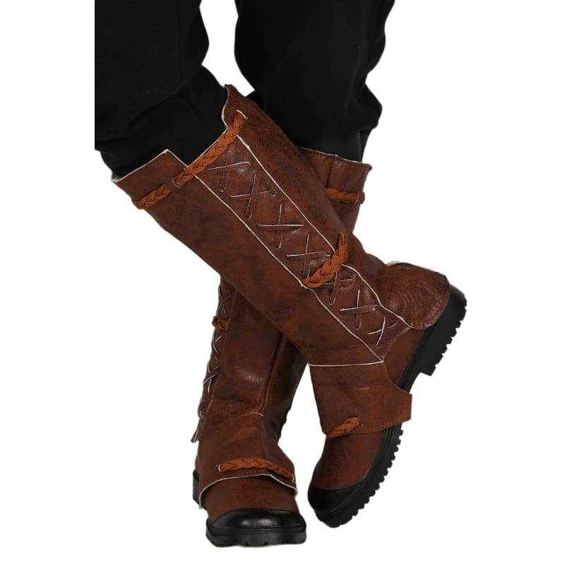 xcoser-de,Xcoser Kaecilius Brown Boots Deluxe PU Leather Boots Doctor Strange Kaecilius Cosplay Shoes,Boots