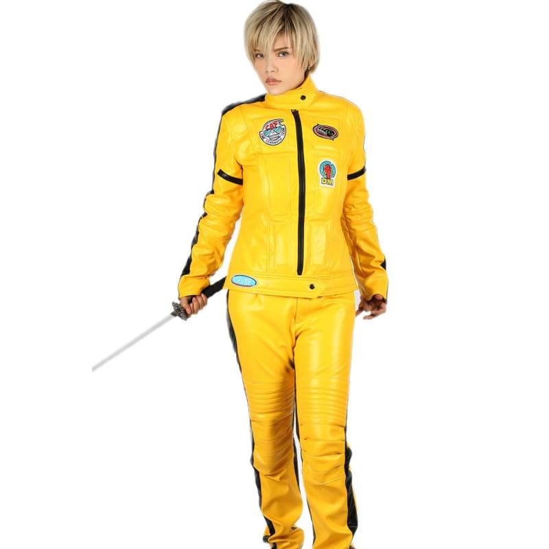 xcoser-de,Xcoser Kill Bill The Bride Deluxe PU Outfits Kill Bill Cosplay Costume,Costumes