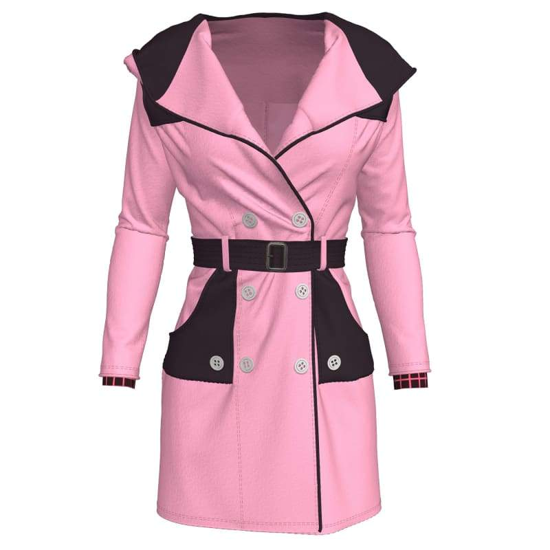 xcoser-de,XCOSER Kingdom Hearts III Game Cosplay Kelly Pink Coat,Costumes