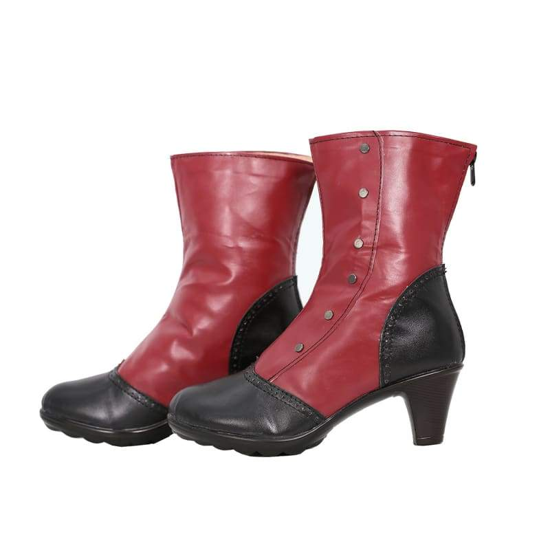 xcoser-de,Xcoser Lady Deadpool Red PU Shoes Deadpool Cosplay Shoes,Boots