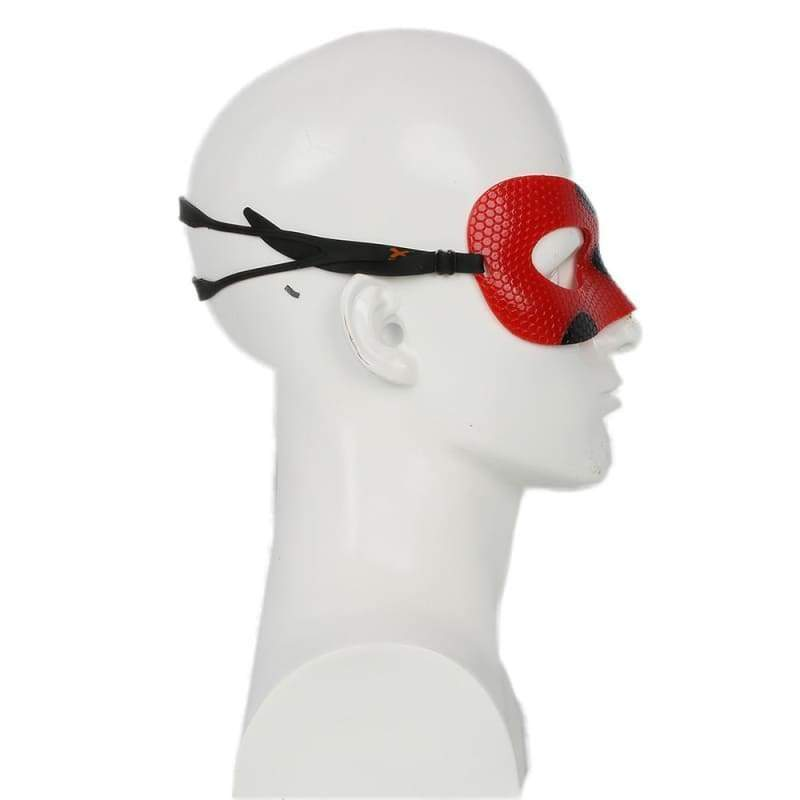 xcoser-de,Xcoser Ladybug Mask Red PU Eyeshade Miraculous Ladybug Cosplay(Only For the United States),Mask