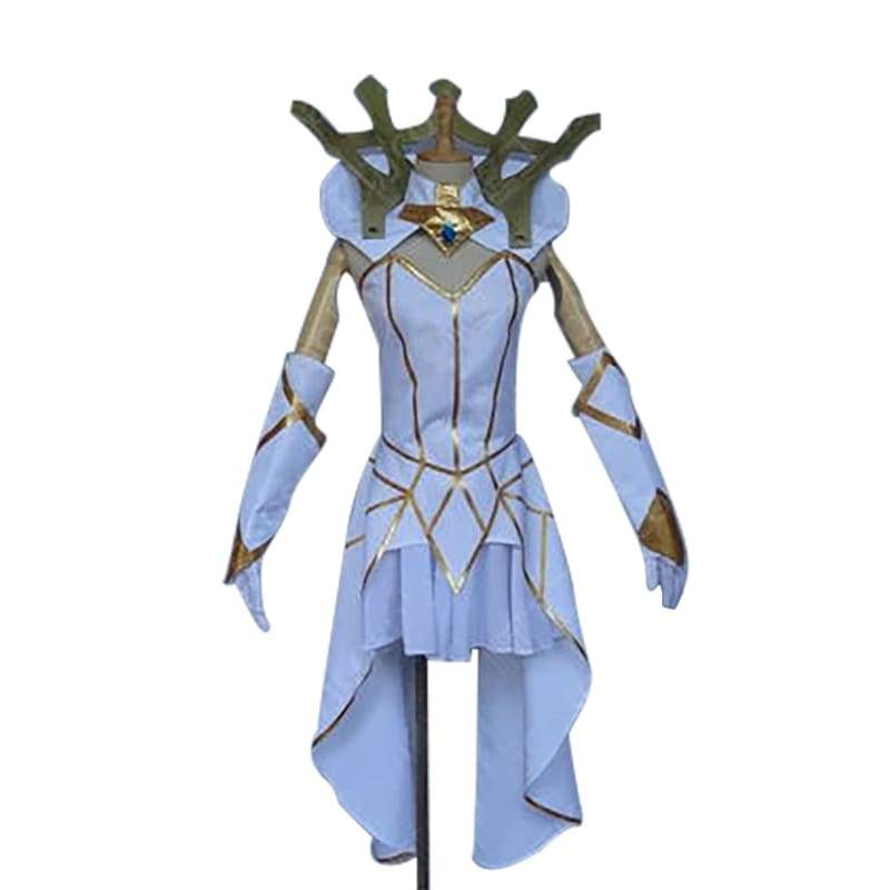xcoser-de,Xcoser League of Legends LOL Luxanna Crownguard the Lady of Luminosity Cosplay Costume,Costumes