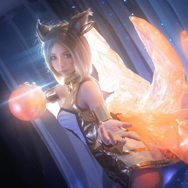 Xcoser League of Legends The Nine-Tailed Fox KDA Ahri Cosplay Costume