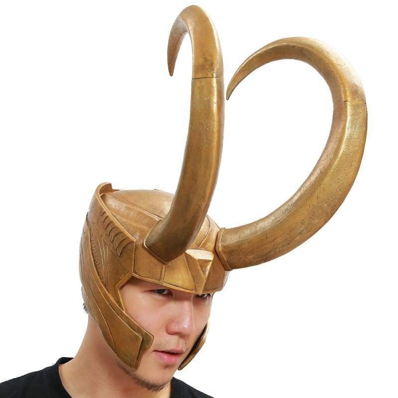 xcoser-de,Xcoser Loki Helmet Marvel Movie Thor Cosplay Mask(Only For the United States),Helmet
