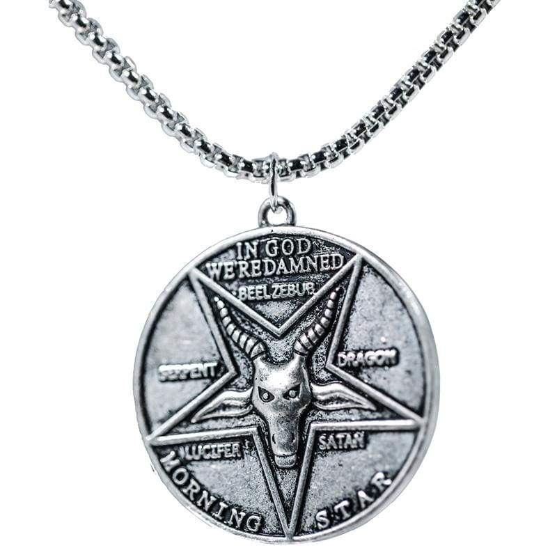xcoser-de,Xcoser Lucifer Pentecostal Coin Necklace,Jewelry