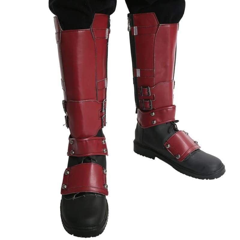 xcoser-de,Xcoser Marvel Movie Cosplay PU Adult Deadpool Shoes(Only For the United States),Boots