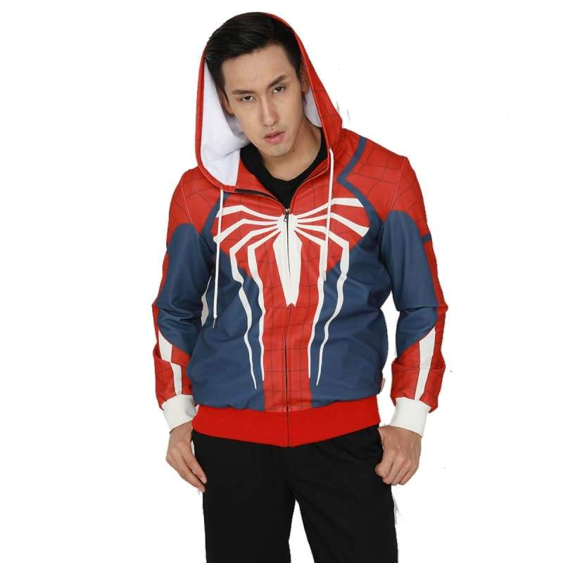 xcoser-de,XCOSER Marvel Spider-man PS4 Game Spider-Man Hoodie White Spider Premium Hoodie,Hoodies