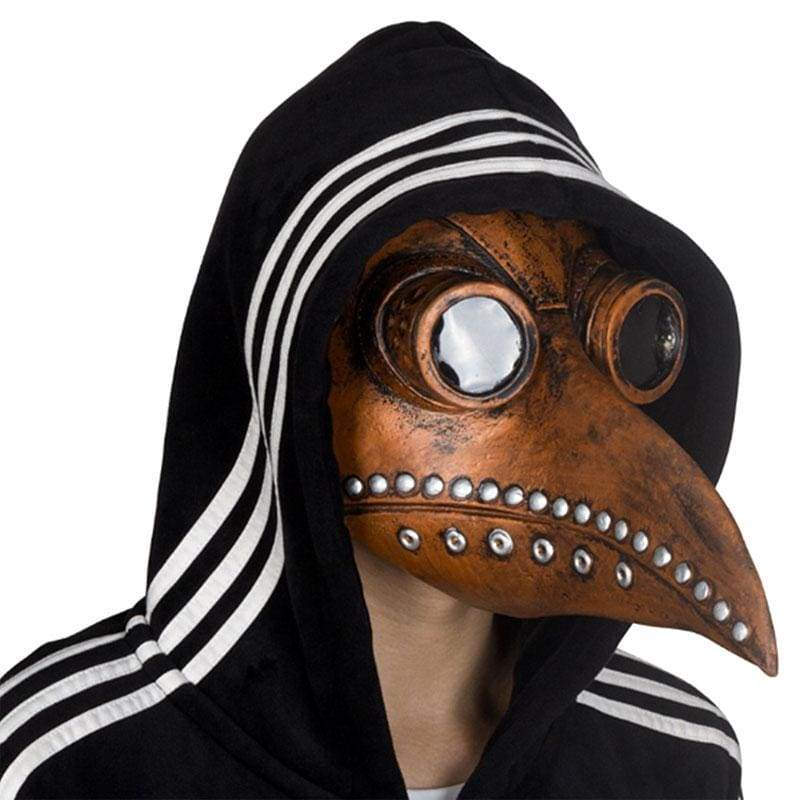 Xcoser Medieval Steampunk Plague Doctor Mask Brown Latex Cosplay Mask