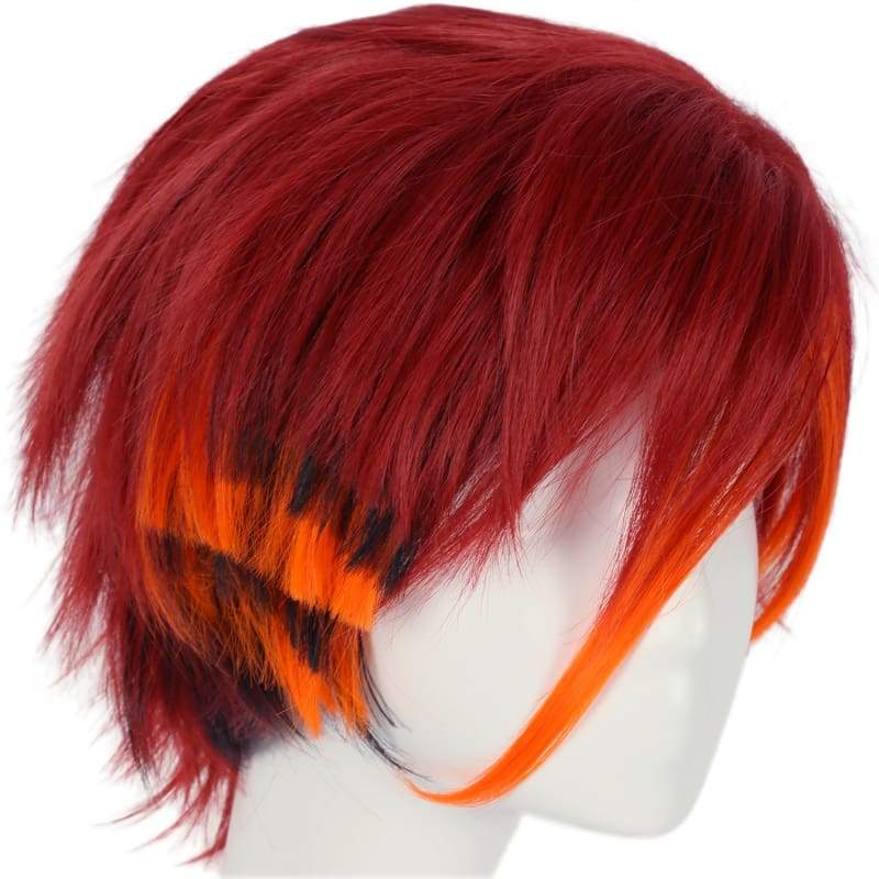 xcoser-de,Xcoser Monster High Toralei Stripe Cosplay Wig Claret-red Short Straight Wig Cosplay Props,Wigs