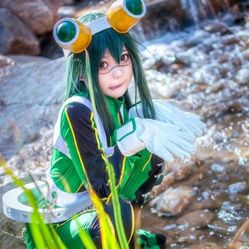 Xcoser My Hero Academia Tsuyu Asui Cosplay Costume Battle Suit
