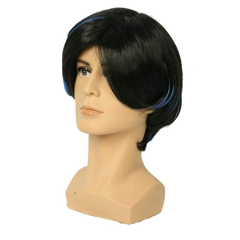 xcoser-de,Xcoser New X-Men Nightcrawler Wig Short Blue and Black Blended Color Wig Nightcrawler Cosplay Wig,Wigs