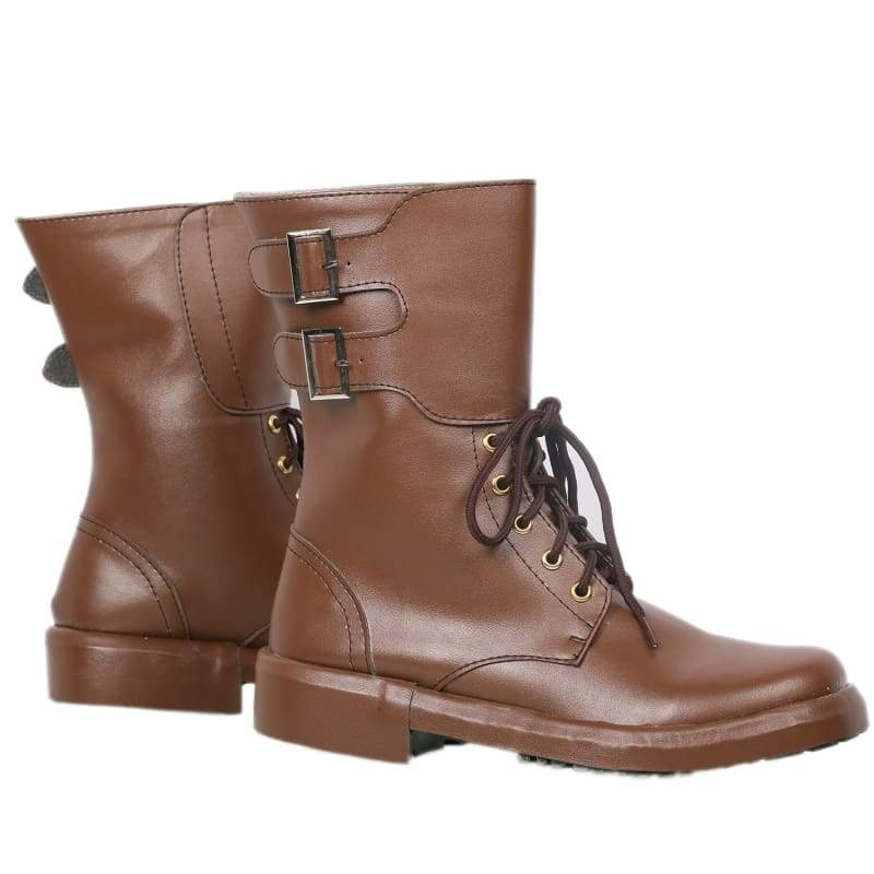 xcoser-de,Xcoser Newt Scamander Boots Brown PU Ankle Boots Movie Fantastic Beasts and Where to Find Them Cosplay Shoes,Boots