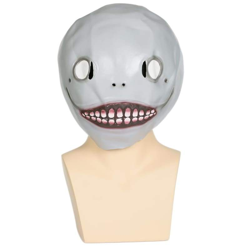 xcoser-de,Xcoser NieR: Automata Emil Mask Gray Latex Mask Head Mask for Halloween Cosplay,Mask