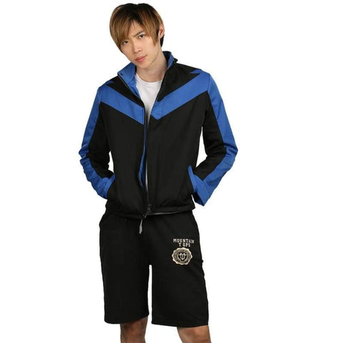 xcoser-de - Xcoser Nightwing Black& Blue Polyester Jacket Costume For Men - Jackets - Xcoser Costume