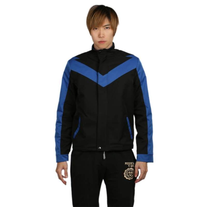 xcoser-de,Xcoser Nightwing Black& Blue Polyester Jacket Costume For Men,Jackets