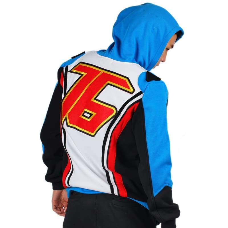 xcoser-de,Xcoser Overwatch Soldier 76 Hoodie Casual Cotton Cosplay Costume,Costumes