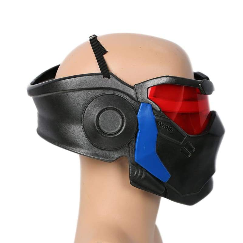 xcoser-de,Xcoser Overwatch Soldier 76 Mask Cosplay Props with LED Light,Mask